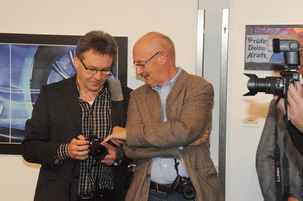 Wolfgang Elster (links) aus Dillingen, Bezirksvorsitzender vom DVF Schwaben