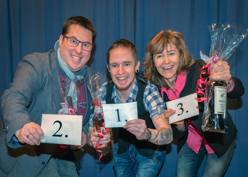 <strong>Freuen sich über ihren Erfolg:</strong> (von links) Florian Pötzl (Platz 2), Michael Müller (Platz 1) und Christine Hilbrich (Platz 3)