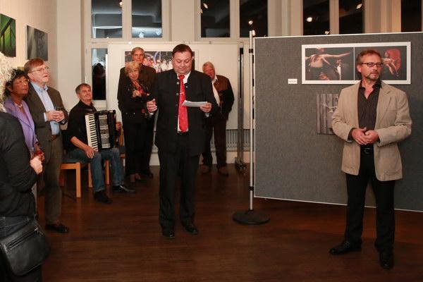 1. Bürgermeister Thomas Eigstler mit einem Grußwort