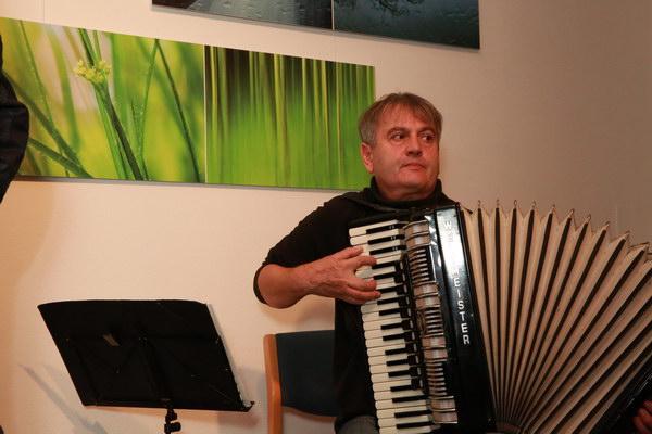Akkordeonspieler Henryk Brzoza