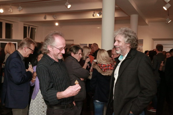 Armin Greither und Michael Dumler (AZ) im Gespräch