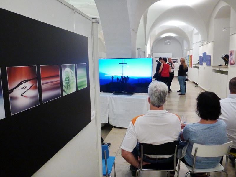 Ein tolles Ambiente im Ausstellungssaal….