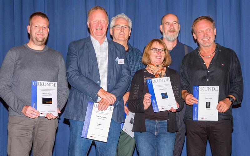 Urkundengewinner Michael Walter, Armin Paul-Prößler, Reiner Lutz, Carola Ernszt, Franz Brück