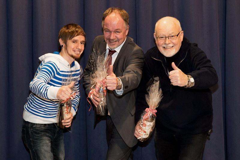 Das Gruppenfoto der besten Drei: von links nach rechts: Michael Müller (2.Platz),Elmar Suchy (1.Platz) und Anton Asen (3.Platz)… Herzlichen Glückwunsch !