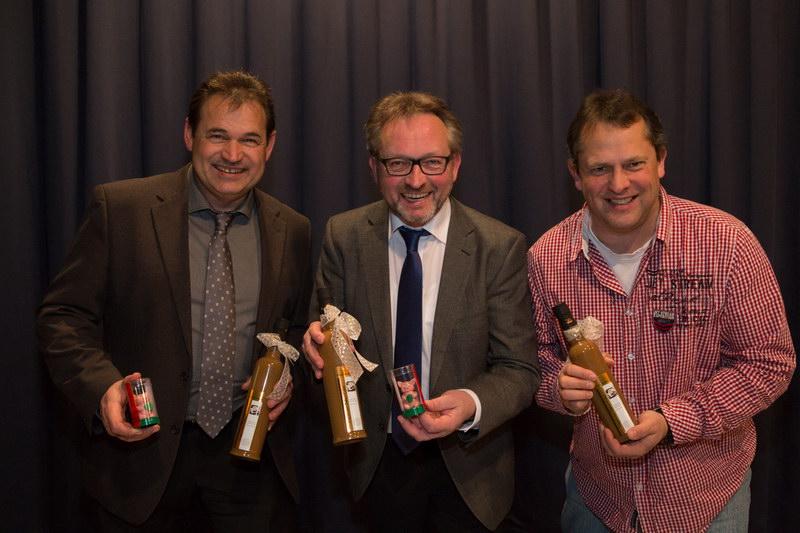 Von links nach rechts: Günther Just (2. Vorsitzender), Manfred Köhler (1. Vorsitzender),Peter Wagner (Kassenwart)